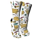 Lovely Kitty Crew Socks Cotton Moisture Wicking Sport Fitness Travel Athletic Running Printed Casual