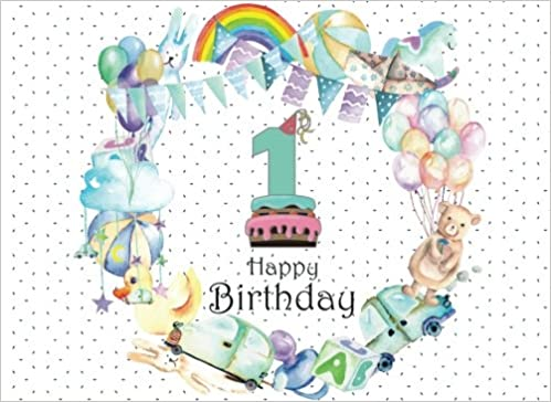 Happy 1st Birthday Happy 1st Birthday Guest Book Happy 1st Anniversary First Baby Birthday Anniversary Guestbook Baby Party Guest Book Happy Birthday Guestbook Volume 7 Port Joy M 9781986753036 Amazon Com Books