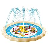 Supkiir Sprinkler Pad for Kids, Splash Play Mat for Learning, Inflatable Water Toys for Boys and Girls-'from A to Z' Outdoor Swimming Party Sprinkler Pool for Toddlers and Children