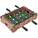 Tabletop Foosball Table- Portable Mini Table Football / Soccer Game Set with Two Balls and Score Keeper for Adults and Kids by Hey! Play!