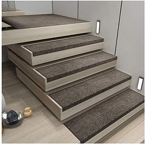 Amazon Com Lal6 Carpet 10 Pieces Stair Mat Textile Fiber Step | Thin Carpet For Stairs | Area Rug | Grey | Stair Runners | Flooring | Hallway
