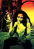 Bob Marley Poster, Rasta, Smoking Weed, Reggae Music Legend