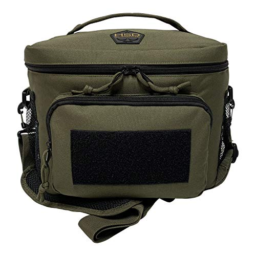 HSD Tactical Lunch Bag - Insulated Cooler, Lunch Box with MOLLE/PALS Webbing, Adjustable Padded Shoulder Strap, for Adults (Ranger Green)…