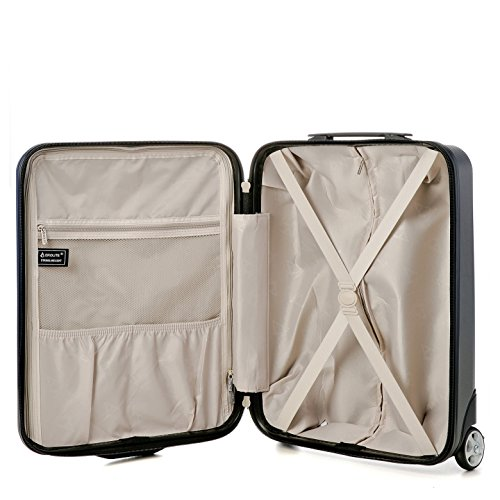 e8083fe05468 Aerolite 22x16x8 Carry On Away Travel Suitcase Spinner Rolling Luggage  Cabin Bag (Charcoal)