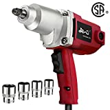 Topcraft 7.5 Amp 1/2' Electric Impact Wrench with Sockets and Carry Case
