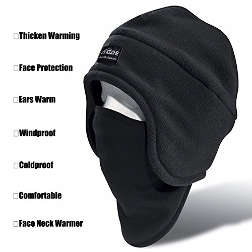 c808f8bc0d5 Tactical Beanie - Balaclava Fleece Hood - Windproof Ski Mask - Cold ...
