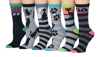 Tipi-Toe-Womens-Ladies-6-Pairs-Value-Pack-Funky-Fashion-Crew-Dress-Socks-Novelty-Socks-sock-size-9-11-Fits-shoe-size-5-9-WC51-A