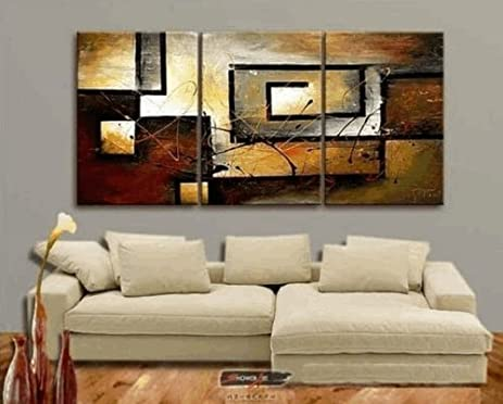 Mon Art 100 Hand Painted Oil Painting Abstract Large Modern 3 Piece Wall