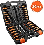 Screwdriver Set, TACKLIFE 26PCS Magnetic Screwdriver Set with Case, Includes Slotted/Phillips/Torx Precision Screwdriver, Repair Tool Kit - HSS1A