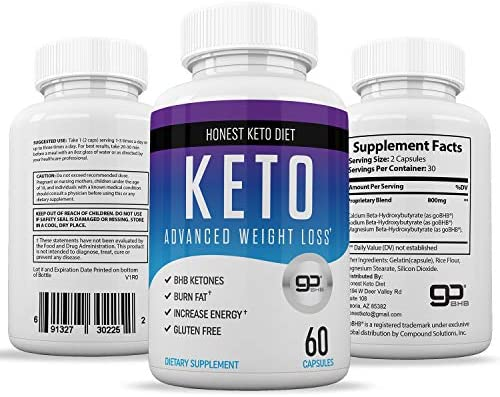 Honest Keto Diet Pills for Weight Loss - Helps Block Carbohydrates - Weight Loss Supplement for Women & Men - Burn Fat Instead of Carbs - BHB Salts - 60 Capsules 6