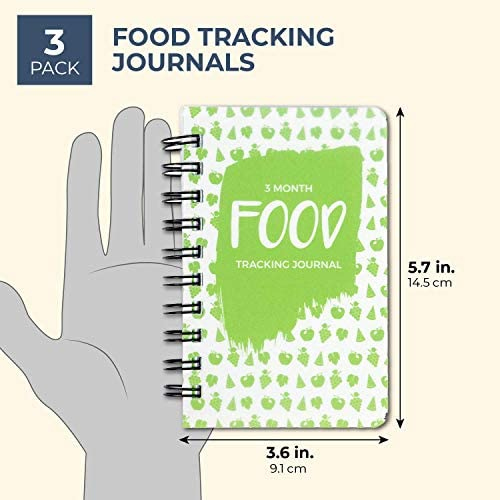 Paper Junkie 3 Pack 90 Day Meal Tracker Pocket Food Journal for Diet, Calorie Counting, Weight Loss, 5 x 3.5 Inches 4