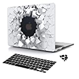 Batianda New 3D Cool Rubberized Hard Cover Protective Case for New MacBook Pro 15 inch 2018 2017 2016 Release Model:A1990 & A1707 for Men with Black Keyboard Cover Dust Plug