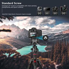 Neewer-Electric-Panoramic-Tripod-Head-for-Time-Lapse-Shooting-with-Variable-Speed-and-Direction-Built-in-Rechargeable-Battery-and-Remote-Control-for-Smartphone-DSLR-Camera-GoProAdapter-Not-Included