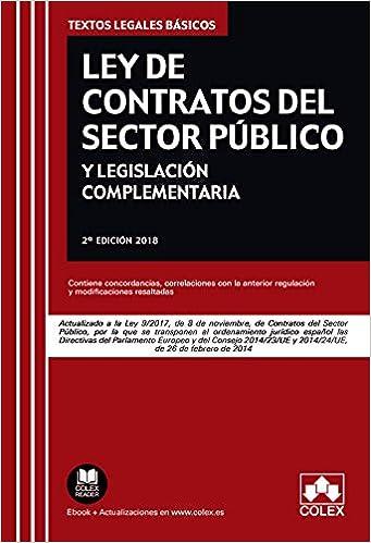 Descargar Libro Ley de Contratos del Sector Público y legislación complementaria: Actualizado a la Ley 9/2017 de 8 de noviembre (TEXTOS LEGALES BÁSICOS) PDF Gratis