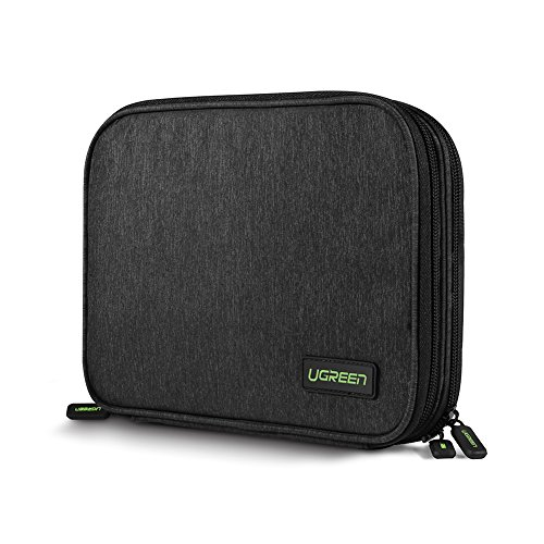 UGREEN Electronics Organizer Travel Cable Organizer Case Gadgets Bag Accessories for USB Cable, Charger Power Cord, Cell Phone, USB Flash Drive, SD Card, Hard Drive, Power Bank, iPad Mini Tablet