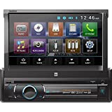 Dual XDVD136BT Multimedia Retractable & Detachable 7' TFT Touchscreen Single DIN Car Stereo Receiver with Built-in Bluetooth, CD/DVD, USB, SD Card & MP3 Player