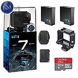GoPro Hero 7 (Black) Action Camera w/ 2 Extra Batteries + 32GB Memory Card