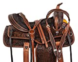 Product review for ALL NATURAL ANTIQUE OIL COWHIDE WESTERN LEATHER HORSE SADDLE COMFY SEAT PLEASURE TRAIL BARREL RACING HAND TOOLED PREMIUM SADDLE TACK SET BRIDLE BREAST COLLAR