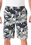 Product review of KingSize Men's Big & Tall Canyon Cargo Shorts, Steel Camo 44