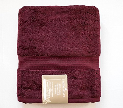 Royal Velvet - 100 Percent Cotton Luxury Signature Soft Bath Towel - 30x54 in Huckleberry