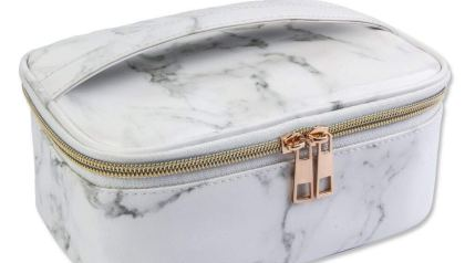 db56c36368ee MAGEFY Marble Makeup Bag Portable Travel Cosmetic Bag Organizer  Multifunction Case with Gold Zipper Toiletry Bag