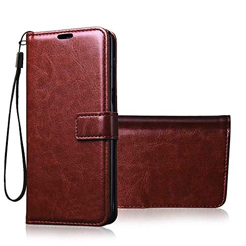 Jkobi Vintage Flip Case Cover for Oppo F15 | Premium Leather | Inner TPU | Foldable Stand | Wallet Card Slots -Brown 5