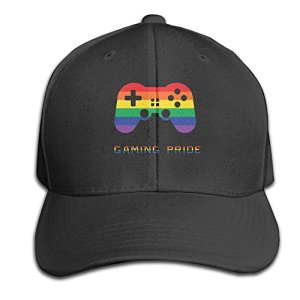 e5c44ab2a4e80 Gay Gamer Gaming Pride Adjustable Baseball Caps Unstructured Dad Hat 100%  Cotton Black