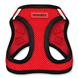 Voyager All Weather No Pull Step-in Mesh Dog Harness with Padded Vest, Best Pet Supplies, Large, Red Base