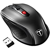 VicTsing [Update to Latest Version] 2.4G Wireless Mouse, 6 Buttons, Nano Receiver,2400 DPI 5 Adjustment Levels,18 Month Battery Life for PC Laptop Computer, Black