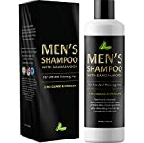 Men's Shampoo with Sandalwood – 2 in 1 Invigorating Shampoo for Thicker Her – With East Indian Sandalwood & Argan Oil – Cleanse and Stimulate Hair & Scalp with This Revitalizing Formula – by Honeydew