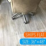 Polycarbonate Office Chair Mat for Hardwood Floor 36'x48' Floor Mat for Office Chair(Rolling Chairs)-Desk Mat&Office Mat for Hardwood Floor-Sturdy&Durable, Immediately Flat When Taken Out of Box