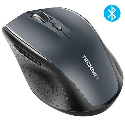 TeckNet Bluetooth Wireless Mouse, Grey (BM308)