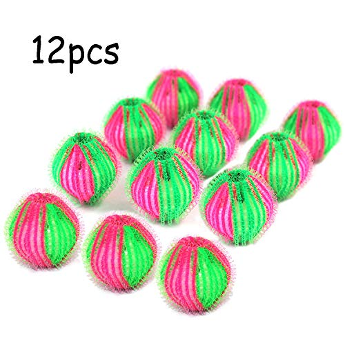Pet Hair Remover for Laundry-12 Pack Lint Remover Washing Balls Non-Toxic Reusable Dryer Balls Washer from Dogs and Cats