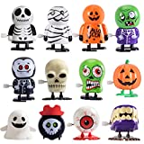 Max Fun 12 pcs Halloween Wind Up Toy Assortment for Halloween Party Favors Goody Bag Filler
