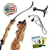 KESHES Takedown Hunting Recurve Bow Archery - 62' Hunting Bow 15-35lb Draw Back Weight - Right Left Handed - Included Rest, Stringer Tool, Sight Full Assembly Instructions Archery (20, Left)