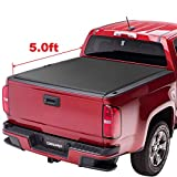oEdRo TRI-FOLD Truck Bed Tonneau Cover Compatible with 2015-2019 Chevy Colorado/GMC Canyon | Fleetside 5' Bed