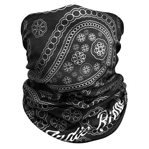 Paisley Outdoor Face Mask By IndieRidge - Microfiber Polyester Multifunctional Seamless Headwear for Motorcycle Hiking Cycling Ski Snowboard