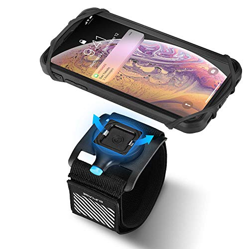 SUPCASE Quick Mount Phone Armband, Running Armband for iPhone X/XS Max/XR, Galaxy Note 9/Note 8/S10/S10 Plus/S10e, Detachable Workout Sports Arm Band for Hiking Biking Walking (Black)