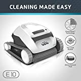 Dolphin E10 Automatic Robotic Pool Cleaner with Easy to Clean Top Load Filter Basket Ideal for Above Ground...