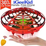 [Auto-Avoid Obstacles] Flying Ball Hand Operated Mini Drones for Kids & Adults Flying RC Drone Quadcopter 2 Speed 360°Rotating Led Light Kids Outdoor Sports Toy Beginners Boy Girs Age 3-12 Gift