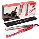 Corioliss C1 Professional Titanium Hair Styling Iron, Limited Edition Landmark Paris, 2 Year Warranty, 1' Titanium Plates, Negative Ion, Dual Voltage, Heat Resistant Pouch included