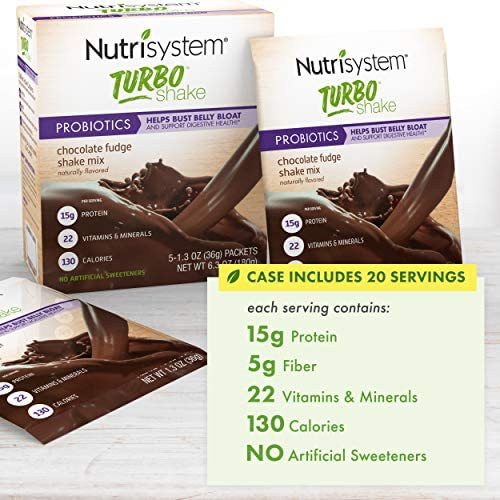 Nutrisystem® Turbo Shake Chocolate Fudge Probiotic, 20 ct 3