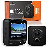 WheelWitness Dash Cam HD PRO Plus - w/WiFi - Premium Dash Camera for Cars - WiFi & GPS, Sony Exmor Sensor, Dashboard Camera, Car DVR, Dual USB Charger, G Sensor, Night Vision + Free 16GB SD