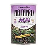 NaturesPlus Fruitein Acai High Protein Energy Shake- 1.2 lbs, Vegetarian Powder -Antioxidants, Vitamins, Minerals, Enzymes, Herbs & Whole Foods - Non-GMO, Gluten-Free - 16 Servings