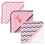 Luvable Friends 3 Piece Hooded Towels, Foxy