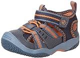 Stride Rite Baby Riff Water Sandal (Infant/Toddler),Navy/Orange,7 M US Toddler
