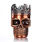 Golden Bell Herb Spice Coffee Grinder Crown Skull - Red Bronze