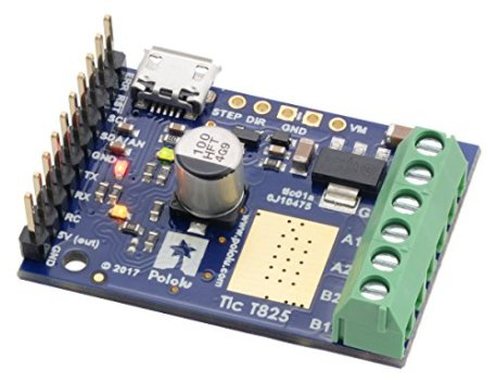 Pololu-Tic-T825-USB-Multi-Interface-Stepper-Motor-Controller-Connectors-Soldered-Item-3130
