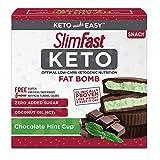 SlimFast Keto Fat Bomb Snacks, Mint Cup, 17 Grams, 14 Pack Box