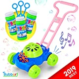 Bubbart Bubble Lawn Mower Automatic Bubble Machine for Kids- Outdoor & Indoor Toys for Toddlers Lot of Fun for your Little Ones | Bonus 3 Bottle Bubbles Solution and Sticks , Suitable for Boys & Girls